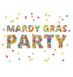 Colorful round confetti carnival mardi gras party vector