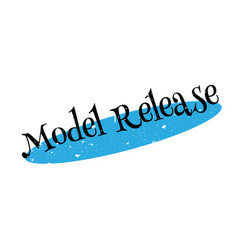 Model release rubber stamp vector