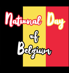 National day of belgium vector