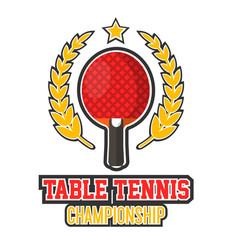 Table tennis championship logo vector