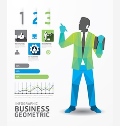 Infographic business geometric concept design vector