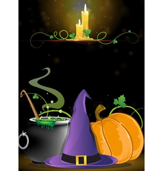 Halloween witch supplies vector