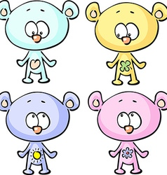 Cute teddy bears - isolated on white backgr vector