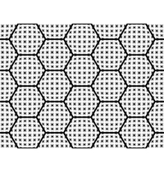 Design seamless monochrome checked hexagon pattern vector