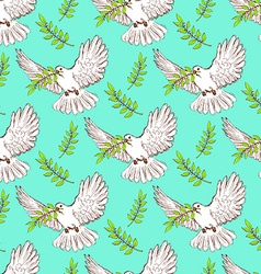 Sketch dove of peace vector