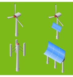 Wind solar generators vector