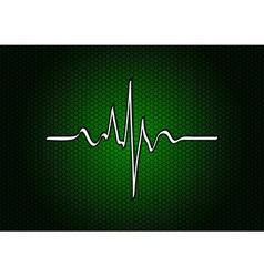 Abstract green cardio vector