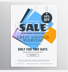 Abstract sale and discount coupon voucher for vector