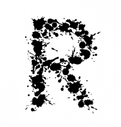alphabet ink r vector image vector image