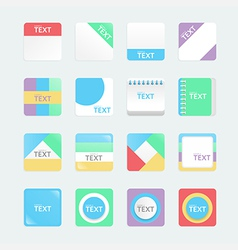 apps icons set soft colour style eps10 vector image