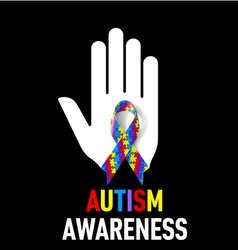 Autism awareness sign vector