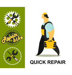 bicycle repair vector image vector image