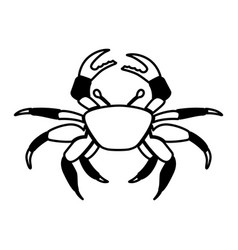 Crab sealife isolated icon vector