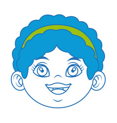 cute face girl smiling young child image vector image