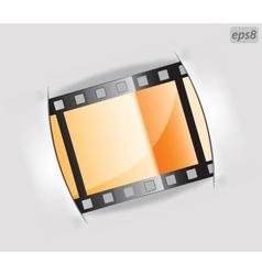 film strip frame vector image vector image