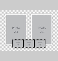 film strip frames collage for photoalbum vector image