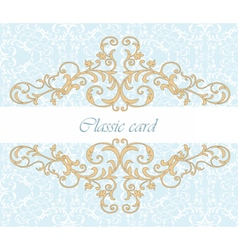Golden royal classic ornament invitation vector