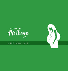 Happy mothers day pregnant mom banner vector