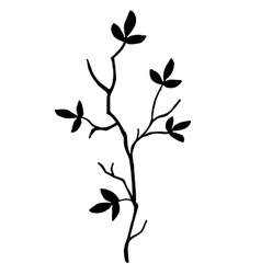 high quality original Silhouette of a tree branch vector image vector image