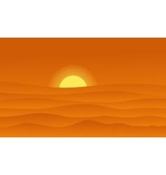 Hill landscape on orange backgrounds vector