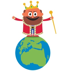 King of the world vector