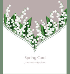 Lily of the valley delicate card frame for vector