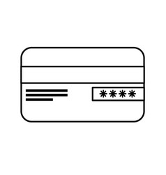 Line credit card financial and security vector