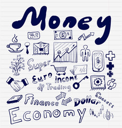 mega collection of money finance business and vector image vector image