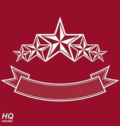 Monarch symbol festive graphic emblem with five vector