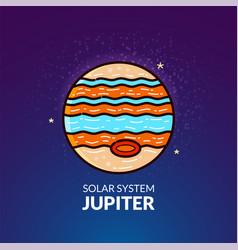 Planet jupiter vector