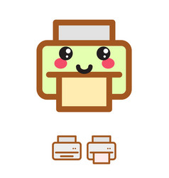 Printer kawaii icon vector