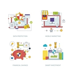 Protection mobile marketing financial strategy vector