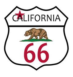 Route 66 california vector