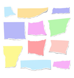 set of isolated realistic colorful empty vector image