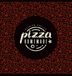 stock design cover for pizza boxes vector image vector image