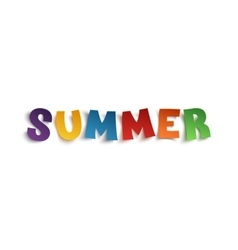 Summer hand drawn typeface vector