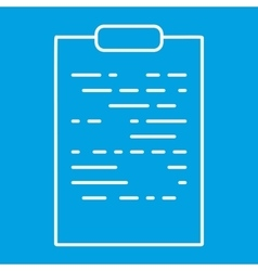 Tablet paper thin line icon vector