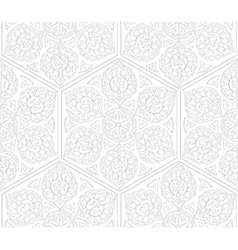 Traditional arabic ornament seamless for coloring vector image vector image