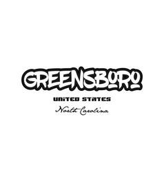 United states greensboro north carolina city vector