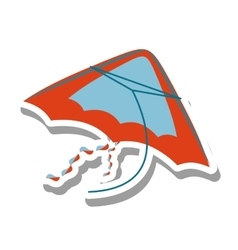 Beautiful kite flying isolated icon vector