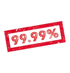 9999 percent rubber stamp vector