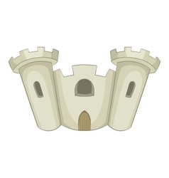 Ancient castle icon cartoon style vector