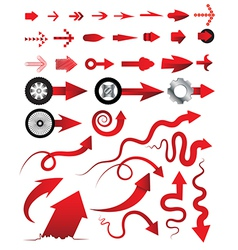 Arrows collection multiple style can vector