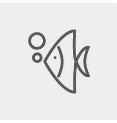 Tropical fish thin line icon vector