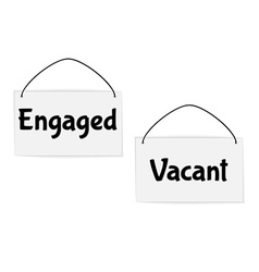 Engaged and vacant signs vector