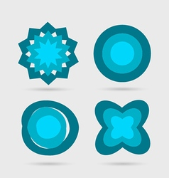 Abstract icons set vector