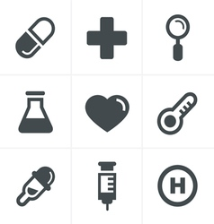Medical icons set design vector