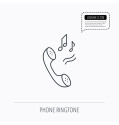 Phone icon call ringtone sign vector