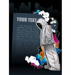 graffiti banner vector image