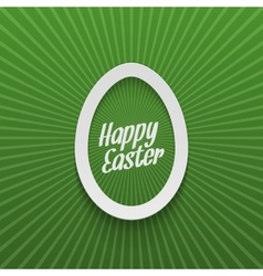 Easter realistic paper egg label with type vector